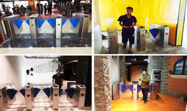 案中建银座健身俱乐部杭州、无锡、上海多门店闸机设备