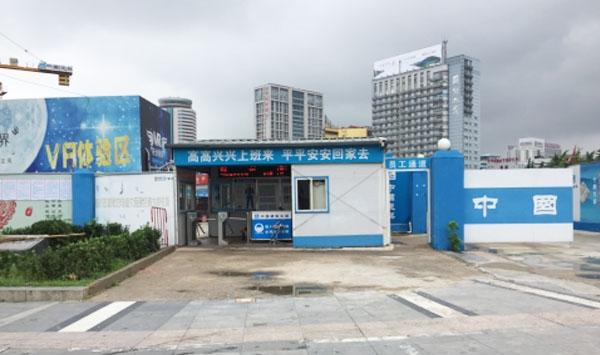 地铁一号线V标段智慧工地员工通道系统-徐州人脸识别门禁案例